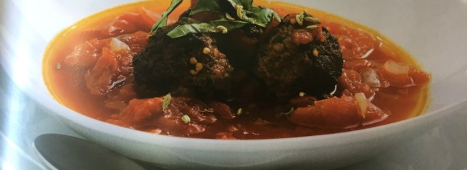 Tomato Soup with sirloin meatballs