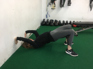 Glute Bridge Using Wall